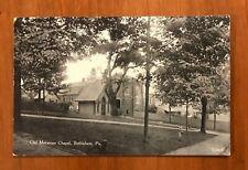 Bethlehem PA, Old Moravian Chapel, Vintage Postcard