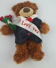 Build-A-Bear Workshop Teddy Bear Plush Sash I Love You Roses Toy Engagement