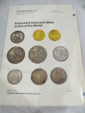 Glendining & Co importante oro plata monedas del mundo catálogo 1975 + Precios
