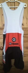 Men's Bib Style Padded Cycle Shorts Logo Is WF Extremens Size M/L