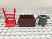 Lego Bundle Crate x 1 Bin x 1 Hand Truck x 1 Red Dark Grey Reddish Brown MOC