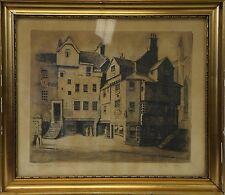 Alec wilson? old houses à Edimbourg-scotland Ecosse Gravure John knoxs