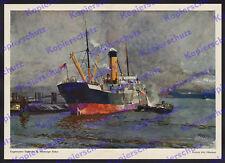 Heinrich Kley Hamburg Hafen gekapertes engl. Schiff Werft Kran 1. Weltkrieg 1915