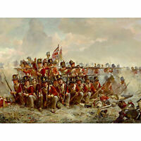Thompson The 28th Regiment At Quatre Bras Painting Large Wall Art Print 18X24 In
