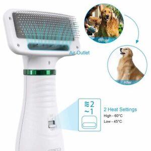 Pet Hair Dryer 2 in 1 Portable Pet Home Grooming Comb Brush Cat Hair Dryer