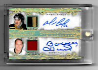 2019-20 Mario Lemieux - Bobby Hull Leaf Superlative Auto Relic Gold 1/1