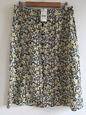 BNWT COLLECTION PIMKIE YELLOW/ORANGE FLORAL FRONT BUTTON A LINE SKIRT 38 8-10
