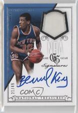 2013-14 National Treasures NBA Game Gear Signatures /49 Bernard King Auto HOF