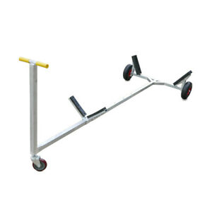 Large Boat Dinghy Launching Trolley. Galvanised Heavy duty. 4m, 300kg capacity.