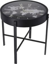 Clock Coffee Table - Retro Design Side Table Lounge Dining or Living Room Decor