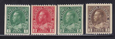 Canada Scott # 131 - 134 VF-OG previously hinged nice color cv $ 145 ! see pic !