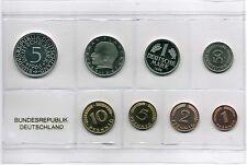 1Pf. bis 5 DM 1966 G Deutschland / BRD Kurssatz BRD 1966G Polierte Platte