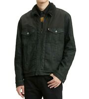 Levis Faux Sherpa Trucker Jacket Mens Large Washed Black Limited Edition $128