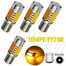 4X Amber Yellow 1156 BAU15S PY21W COB LED Turn Signal Reverse Backup Bliner Bulb