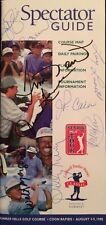 1998 Coldwell Banker Burnet Classic Multi Signed Official Golf Spectator Guide