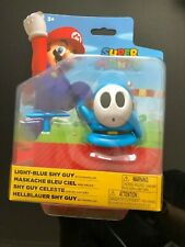 Super Mario 4 Inch Scale Figure - Light Blue Shy Guy (BRAND NEW)
