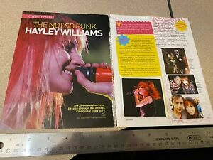 Hayley Williams / Paramore rock band clippings cuttings photos from Indonesia