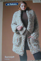 Patons Baroque Knitting Pattern Lady's Collared Jacket