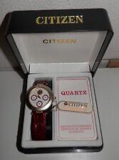 Citizen Clariti nuovo donna datario diamante NWT box crocodile