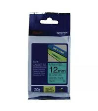 Brother P-Touch 12mm Black on Green TZ731 Labelling Tape