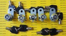 5 Keyed alike NonRetaining 5/8 Tubular Cam Lock RV Camper Drawer Cabinet Toolbox