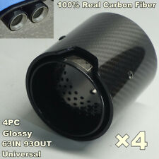 For BMW M2 M3 M4 M5 M6 4PCS 63MM-93MM Glossy Carbon Fiber Exhaust Tip Tail Pipe