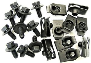 For Nissan Body Bolts & U-nut Clips- M6-1.0 x 16mm- 10mm Hex- 20 pcs (10ea) #379