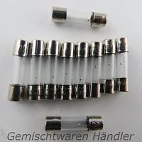 10x 3,15A Feinsicherung Glassicherung Träge 20mm 1 2 3,15 4 5 8 10 A Sicherungen