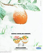 PUBLICITE ADVERTISING 036  1978  Danone dessert  fruits au sucre abricot