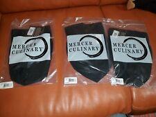 Mercer Culinary Chef Apparel Lot of 3 Black Chef hats Toque Soft floppy M60090Bk