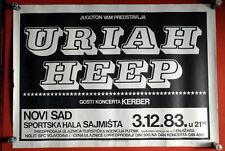 Uriah Heep Rare Original Poster Novi Sad Yugoslavia 1983. Kerber David Byron