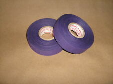 "2 Rolls of Purple Cloth Hockey Stick Tape Pro Quality 1"" X 25m"