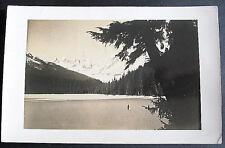 ALASKA ANCHORAGE  Man Lake 1943 RPPC WWII ARMY CENSOR
