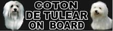COTON DE TULEAR ON BOARD Sticker by Starprint
