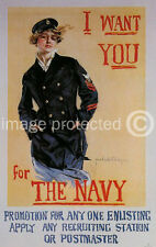 I Want You For The Navy WWI US Military Vintage Poster 18x24