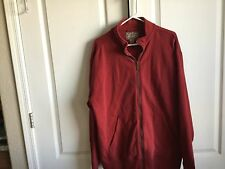 Men's Cranberry L.L. Bean Heavy Zip-up Jacket SZ XL