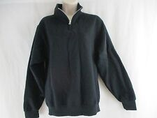 JERZEES - Nublend Quarter-Zip Cadet Collar Black Sweatshirt - Size Small     e2