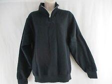 JERZEES - Nublend Quarter-Zip Cadet Collar Black Sweatshirt - Size Small