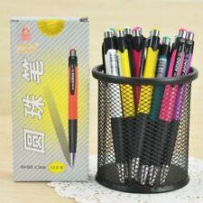 12Pcs Ballpoint Pen Roller Ball Blue Ink Office School Supplies Stationery 0.7mm