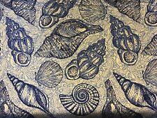 "Lilly Pulitzer Dobby Cotton Fabric Blue Peri Pop Up Stuffed Shells 1 yard X 57"""