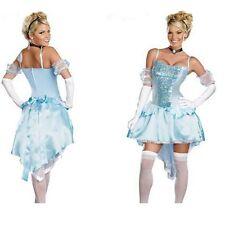 Snow White Princess Cosplay Costume Light Blue Halloween Christmas party dress