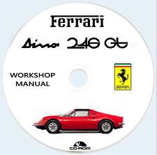 Workshop Manual Ferrari 246 GT e 246 GTS,Istruzioni riparazione