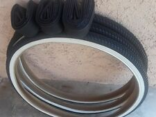 3pc 24X1.75 Tricyclo Tires And Tubes White Wall