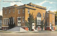 Memphis Missouri~First Christian Church Corner~1910 Postcard