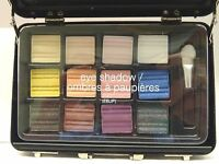 THE COLOR INSTITUTE - LOT OF 6 - 12 EYE SHADOWS IN BLACK BRIEFCASE - NEW