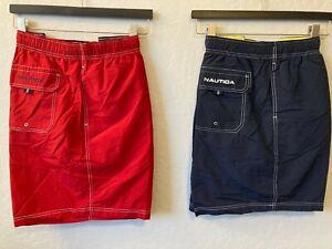 NWT Big & Tall swim shorts trunks Nautica Navy Blue Red swimsuit 3xl 2XLT