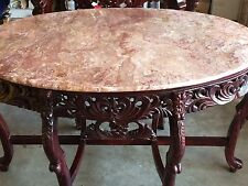 Oval Accent Table With Granite Top 52 By 33