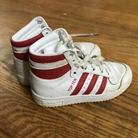 Adidas Originals Top Ten Hi Red/White Size Youth 11 AA135