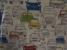 Retro Funky CAR Themed Fabric Remnant (55cm x 50cm)
