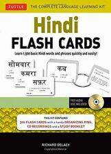 Hindi Flash Cards Kit : Learn 1,500 Basic Hindi Words and Phrases Quickly and...